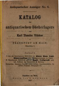 Verzeichniss des antiquarischen B  cherlagers von Karl Theodor V  lcker in Frankfurt a  M  PDF