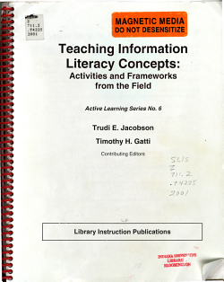 Teaching Information Literacy Concepts PDF