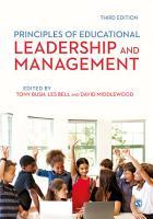 Principles of Educational Leadership   Management PDF