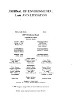 Journal of Environmental Law and Litigation PDF