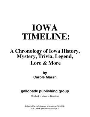 Iowa Timeline
