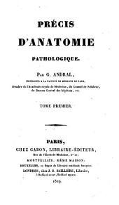 Précis d'anatomie pathologique: Partie1
