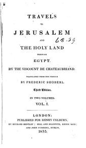 Travels to Jerusalem and the Holy Land: Through Egypt, Volume 1