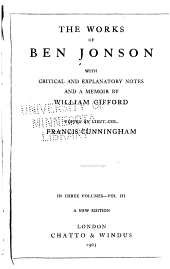 The Works of Ben Jonson: Volume 3