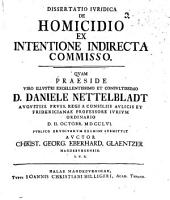 Diss. iur. de homicidio, ex intentione indirecta commisso
