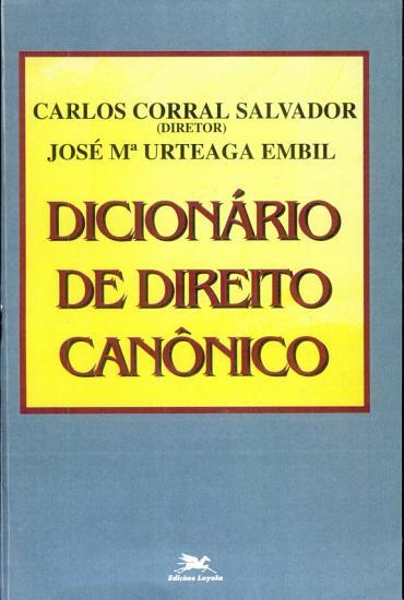Dicion  rio de Direito Can  nico PDF