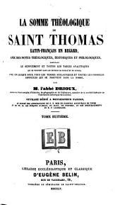 La Somme théologique de Saint Thomas: Volume8