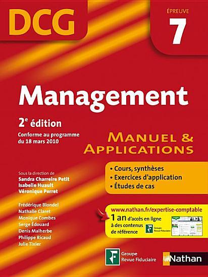 Management   2e   dition   DCG     preuve 7   Manuel et applications PDF