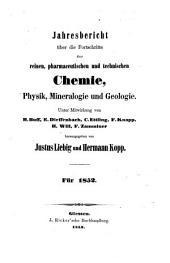 Jahresbericht über die Fortschritte der Chemie und verwandter Teile anderer Wissenschaften