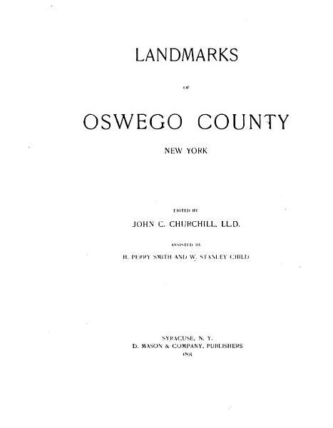 Download Landmarks of Oswego County  New York Book