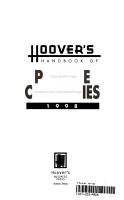Hoover s Handbook of Private Companies 1998 PDF