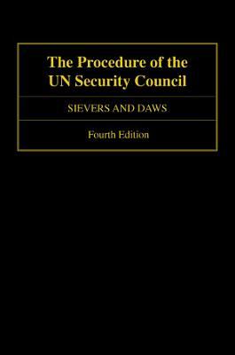 The Procedure of the UN Security Council PDF