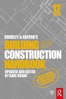Chudley and Greeno s Building Construction Handbook PDF