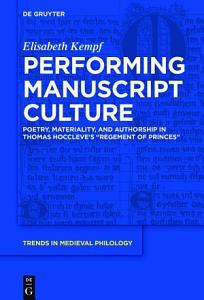 Performing Manuscript Culture PDF