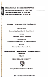 Kongressberichte  Neurology and psychiatry