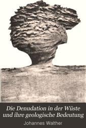 Die Denudation in der Wüste und ihre geologische Bedeutung: Untersuchungen über der Sedimente in den Ägyptischen Wüsten, Band 16,Ausgabe 3