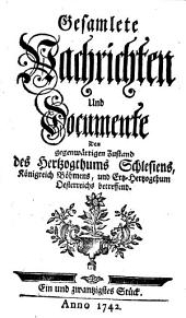 Gesamlete Nachrichten Den gegenwärtigen Zustand des Herzogthums Schlesien betreffend: Band 21