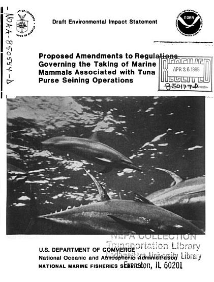 Tuna Purse Seining Operations  Taking of Marine Mammals  Proposed Amendments to Regulations PDF