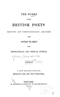 The Works of the British Poets  Selected and Chronologically Arranged     From Southey to Croly PDF