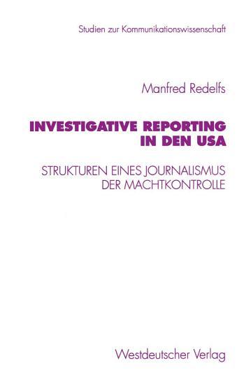 Investigative Reporting in den USA PDF