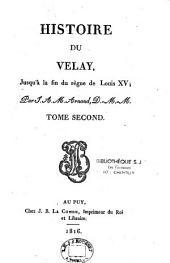 Histoire de Velay jusqu'à la fin du régime de Louis XV