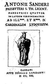 Panegyrici quatuor in laudem Virginis Matris ad ill. et rev. D. Cardinalem Ludovisium