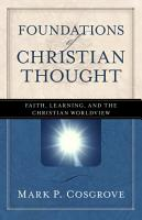 Foundations of Christian Thought PDF