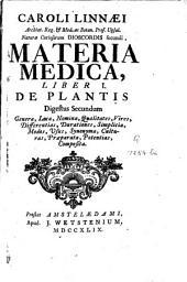 Materia medica: liber I : De plantis