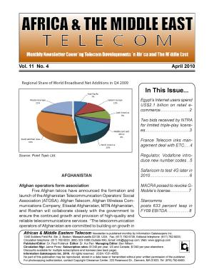 Africa and Mideast Telecom Monthly Newsletter 04 10 PDF
