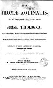 Divi Thomæ Aquinatis ... Summa theologica, accurante J.P. Migne