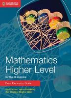 Mathematics Higher Level for the IB Diploma Exam Preparation Guide PDF