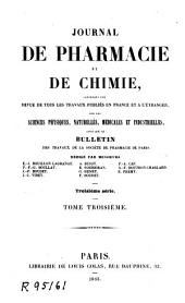 Journal de pharmacie et de chimie: Volume 3 ;Volume 1843
