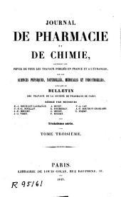 Journal de pharmacie et de chimie: Volume3;Volume1843