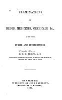 Examinations of Drugs  Medicines  Chemicals   c PDF