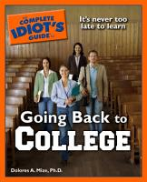 The Complete Idiot s Guide to Going Back to College PDF