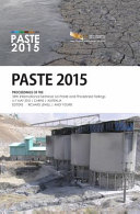 Proceedings of the 18th International Seminar on Paste and Thickened Tailings