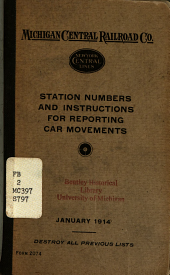 Station Numbers and Instructions for Reporting Car Movements