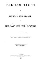 The Law Times: Volume 19