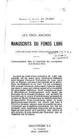 Les très anciens manuscrits du fond Libri dans les collections d'Ashburnham place