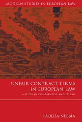 Unfair Contract Terms In European Law Book PDF