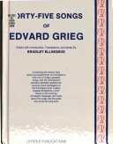 Forty five songs of Edvard Grieg PDF