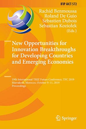 New Opportunities for Innovation Breakthroughs for Developing Countries and Emerging Economies PDF