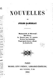 Nouvelles de Jules Sandeau