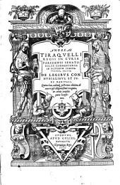 Ex commentariis in Pictonum consuetudines Sectio de legibus connubialibus et iure maritali