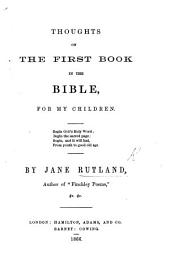 Thoughts on the first book in the Bible, for my children