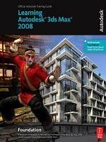 Learning Autodesk 3ds Max 2008 PDF