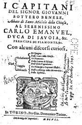 I Capitani del signor Giovanni Bottero Benese ... con alcuni discorsi curiosi ...