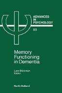 Memory Functioning in Dementia