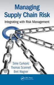 Managing Supply Chain Risk PDF