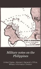 Military notes on the Philippines: September 1898